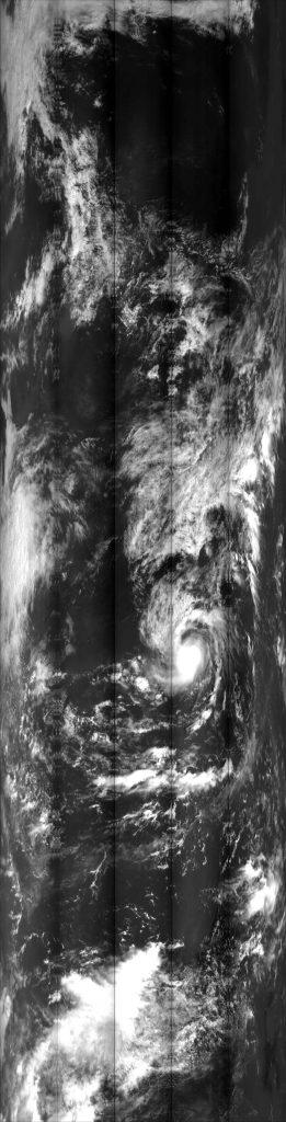 """紫外成像仪看到的""""百里嘉""""台风"""